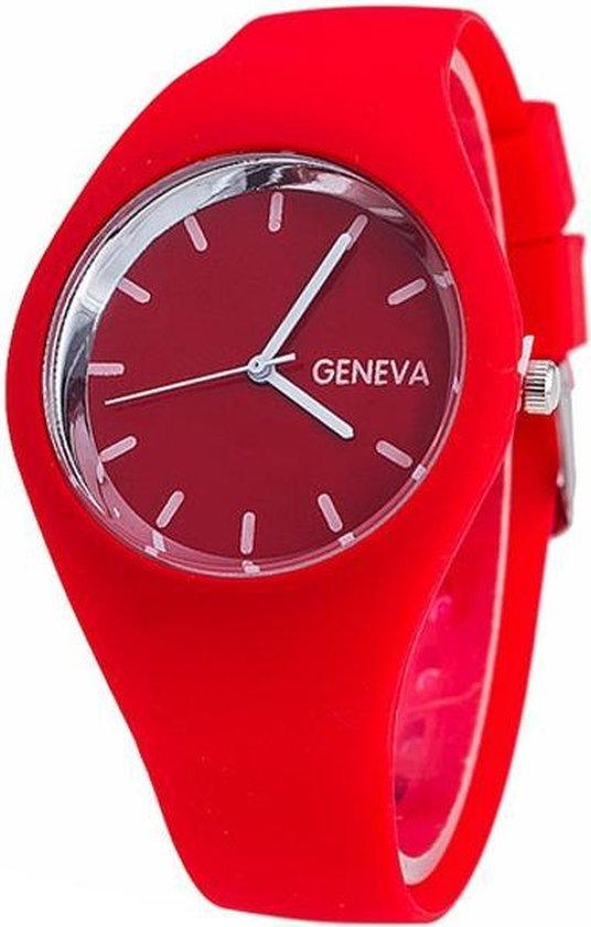 Fako® – Horloge – Geneva – Siliconen Ultra – Rood