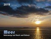 Kalender Zee - Maandkalender Noordzee en Oostzee 2019 - Groot 58x46cm - Jaarkalender