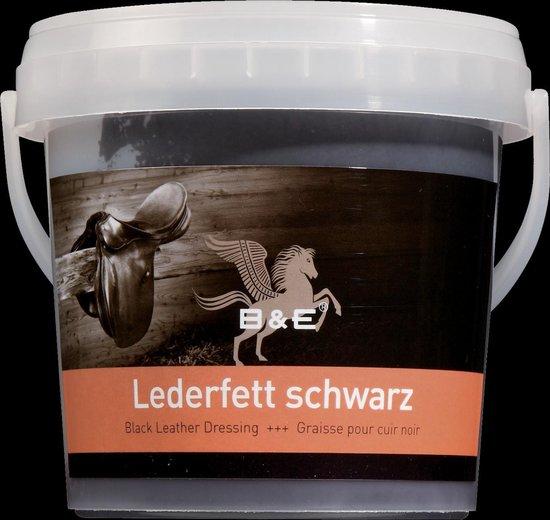 B & E Ledervet 500 ml Zwart