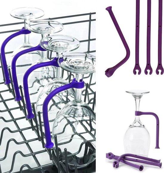 Wijnglazenhouder – 6 stuks - Siliconen hulpstuk - Wijnglazen set – Vaatwasser accessoire – Kerst cadeau volwassenen