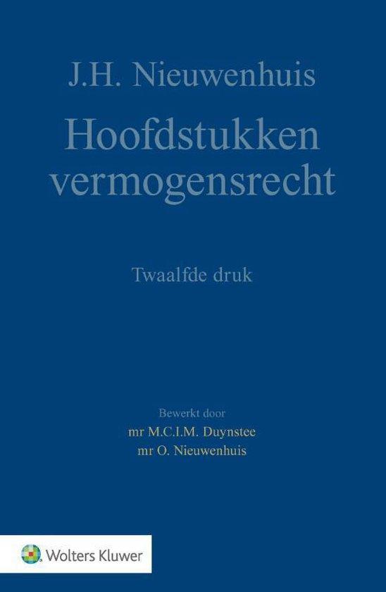 Hoofdstukken vermogensrecht - J.H. Nieuwenhuis  