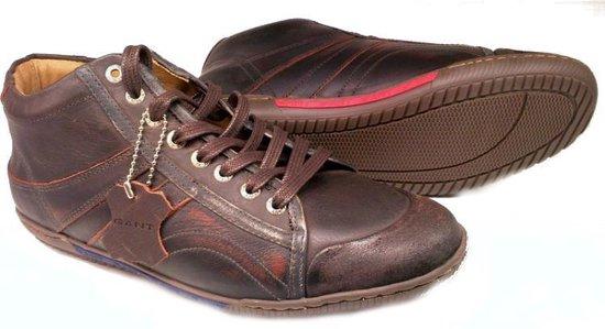 Gant RENTON geschuurd leder half hoge sneaker Heren donker bruin - Maat 45