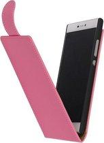 Roze Effen Classic flip case hoesje voor Apple iPhone 5c