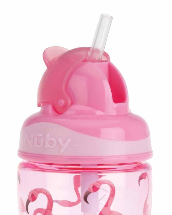 Nûby - Tritan Flip-It™ beker - 360ml - Flamingo - Roze - 18m+