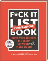 Boekomslag van 'F*ck it list book voor collega's'