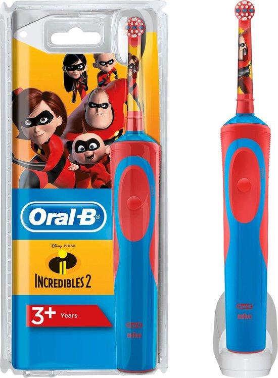 Oral-B - Elektrische Tandenborstel - Disney Incredibles Kids - Rood, blauw