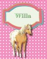 Handwriting and Illustration Story Paper 120 Pages Willa