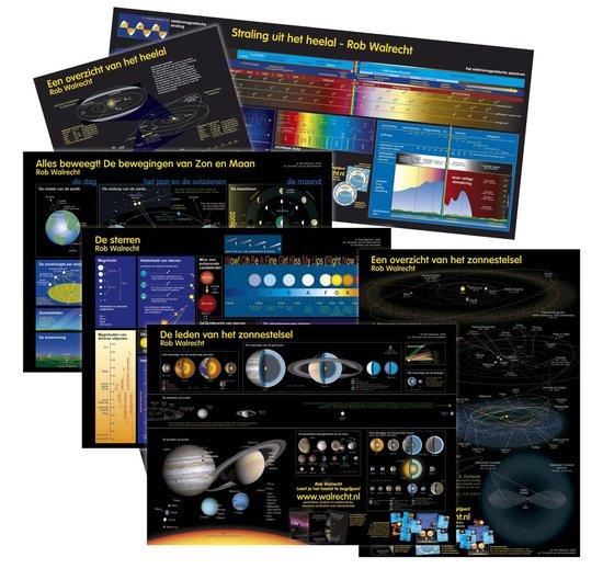 Complete posterset sterrenkunde, zonnestelsel en het heelal - R. Walrecht  