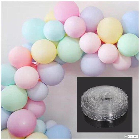 Pastel ballonnenboog 2,5 meter | 35 ballonnen + strip | ballonnen boog slinger guirlande