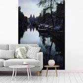 De tweelingtorens van het Rijksmuseum in Amsterdam fotobehang vinyl breedte 215 cm x hoogte 320 cm - Foto print op behang (in 7 formaten beschikbaar)