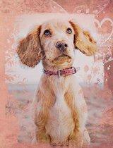 Cute English Cocker Spaniel Dog Composition Notebook, Graph Paper