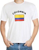 Colombia t-shirt met vlag 2xl