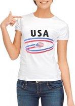 Wit dames t-shirt USA XL
