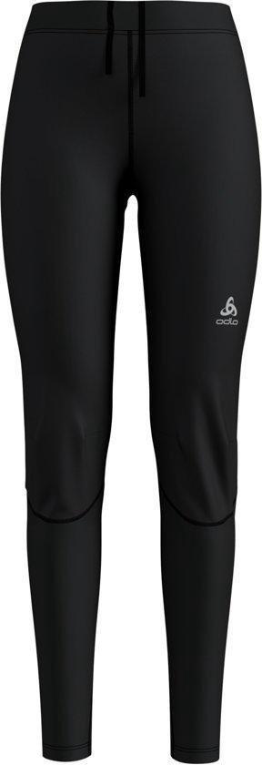 Odlo Tights Zeroweight Windproof Warm Dames Sportbroek - Black-Reflective Print - Maat XL