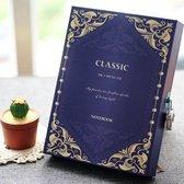 Dagboek met Cijfer Slot - Diary with Lock - Vintage  - Code Slot - Blauw