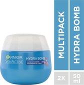 Garnier SkinActive Hydra Bomb Nachtcrème - 2 x 50 ml - Voordeelverpakking