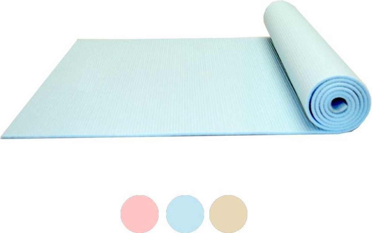 Yoga mat Focus Fitness - 173 x 61 x 0.5 cm - Blauw