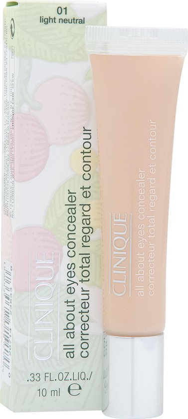 CLINIQUE 01 LIGHT NEUTRAL ALL ABOUTEYES CONCEALER 10ML - Cosmetics