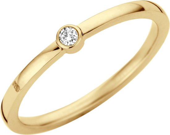 friends mini cz ring - goudkleurig - dames - maat 52