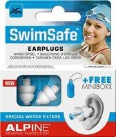 Alpine SwimSafe - Zwem oordoppen - Voorkomt oorpijn - Met filters - Wit - SNR 10 dB - 1 paar