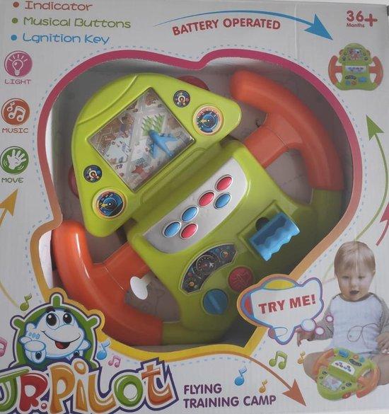 Bol Com Speelgoed Stuur Groot 32x20 Cm Interactief Piloot Stuurtje Voor Kinderen Va 3 Jaar