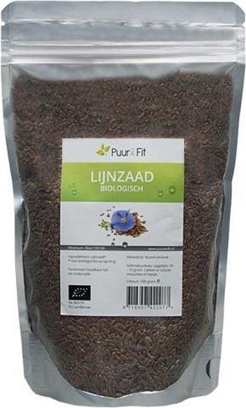 Puur&Fit Lijnzaad Biologisch - 500 gram