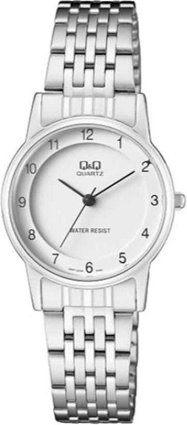 Mooi dames horloge -zilverkleurig van het merk Q&Q-QA57j204Y