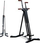 Sportstech VC300 stepper - fitness thuis - vertical climber - inklapbaar - Zwart