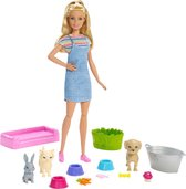 Barbie Huisdierenwassalon Speelset - Barbiepop
