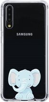 Samsung Galaxy A50 Transparant siliconen hoesje (Olifantje)
