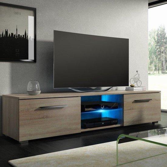 TV meubel TV kast Tenus incl LED verlichting sonoma eiken - VDD