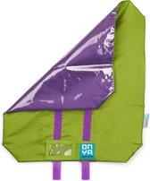 Foodwrap / Herbruikbaar Boterhamzakje (GROEN) gemaakt van gerecycled materiaal | Lunch Wrap | MyFoodways.nl | Lunch Bag