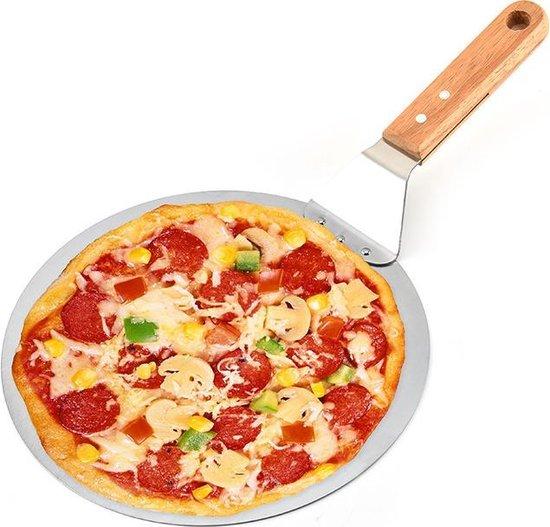 Pizzaschep - RVS pizzaschep 25,5 cm - Houten handgreep - Pizzaspatel