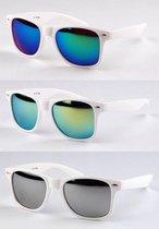 Wayfarer Zonnebrillen - 3 stuks - Wit