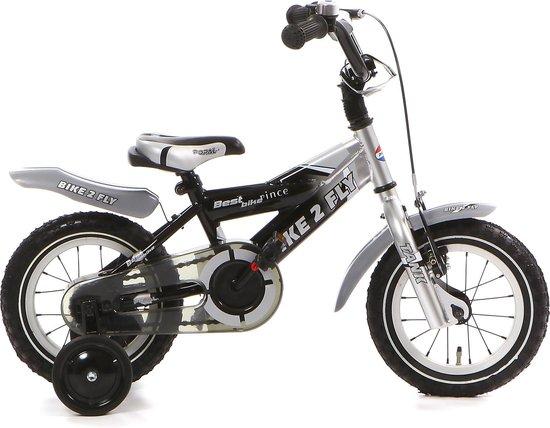 Popal Bike 2 Fly Kinderfiets - 12 inch - Zilver/Zwart