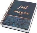 Notitieboek Jolie mystic jungle. Met extra veel pagina's