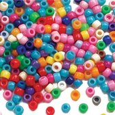 Voordeelpakket gekleurde kralen  (600 stuks per verpakking)