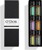O'dor® Etherische Olie Aromatherapie - Pepermunt, Lavendel, Orange, Eucalyptus, Lemoengras, Theeboom