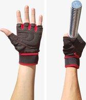 AWEMOZ® Fitnesshandschoenen - Sporthandschoenen - Zwart/Rood - Maat M