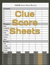 Clue Score Sheets