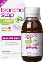 Bronchostop Hoestdrank  Direct Junior -  met Honing - directe verlichting bij vastzittende hoest, kriebel- en prikkelhoest - 120ml