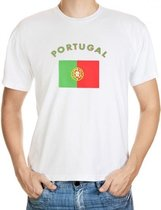 Wit t-shirt Portugal heren S