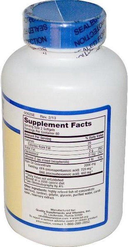 Mega EPA/DHA (120 gelcapsules) - Life Extension