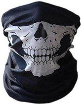 Balaclava Gezicht Shield Tactische Masker Wit 3D Schedel Sport Nek Warm Volgelaatsmasker Winddicht Motorfiets Mondkap Ski Outdoor Sport