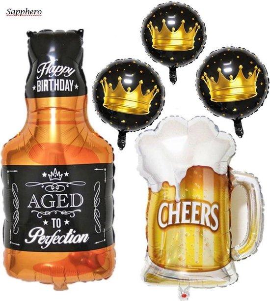 Folieballon Bier en Fles | Verjaardag | Vrijgezellenfeest | Jubileum | Versiering | Decoratie