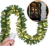 Kerstguirlande , slinger, kerstslinger 5mtr met 100xLED -in/outdoor met afstandsbediening