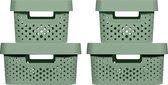 Infinity Box 2x4,5L + 2x11L + 4 deksels - 100% recycled