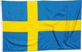 Trasal - vlag Zweden - zweedse vlag 150x90cm