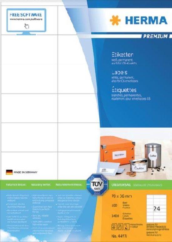 HERMA 12886 Wit Zelfklevend printerlabel printeretiket