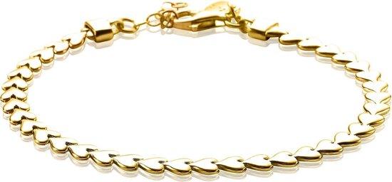 Zinzi Jewels 925 Sterling Zilveren Goudkleurige Armband  (Lengte: 17.00-19.00 cm) - goud